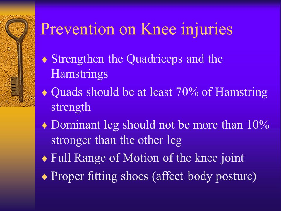 Prevention on Knee injuries