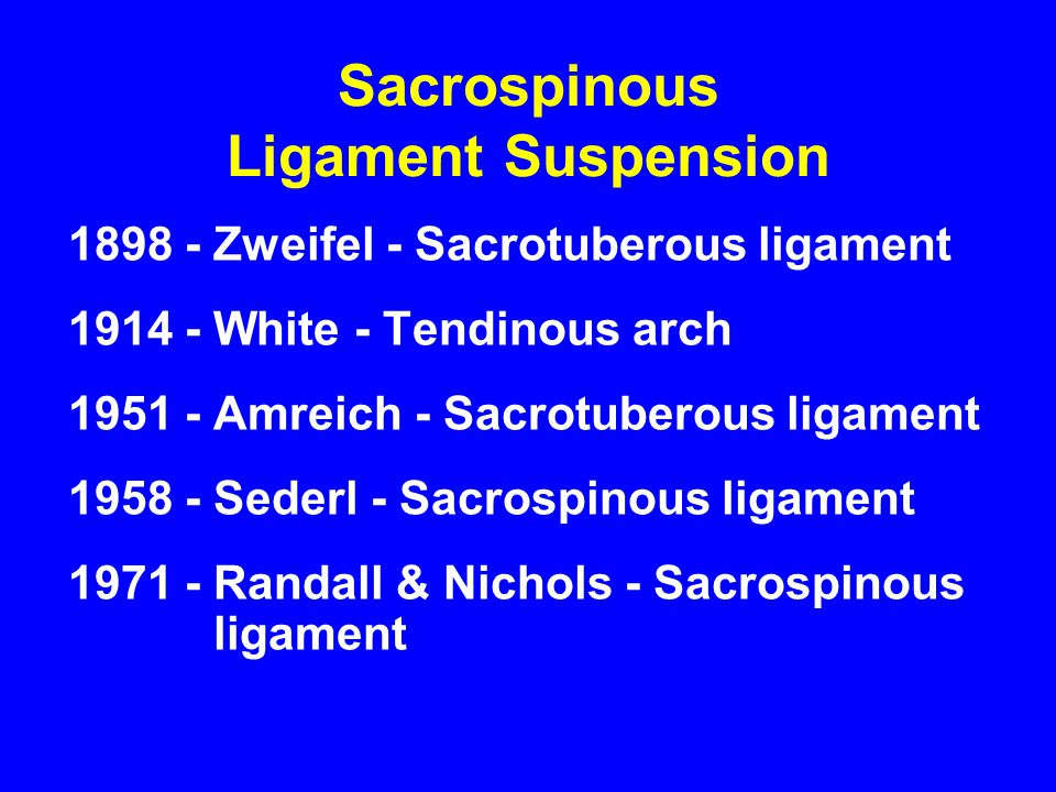 Sacrospinous Ligament Suspension