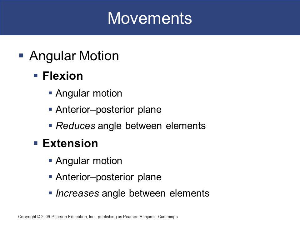 Movements Angular Motion Flexion Extension Angular motion