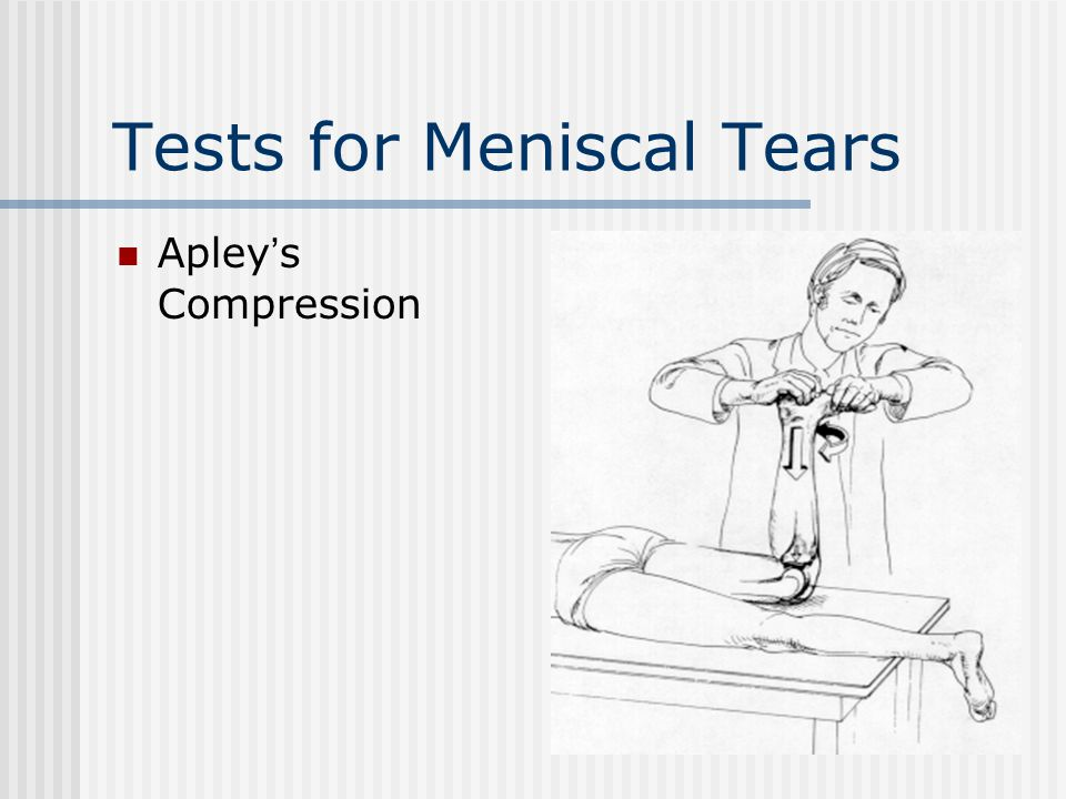 Tests for Meniscal Tears