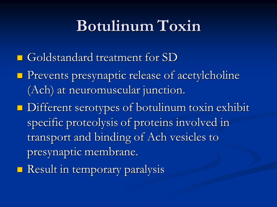 Botulinum Toxin Goldstandard treatment for SD