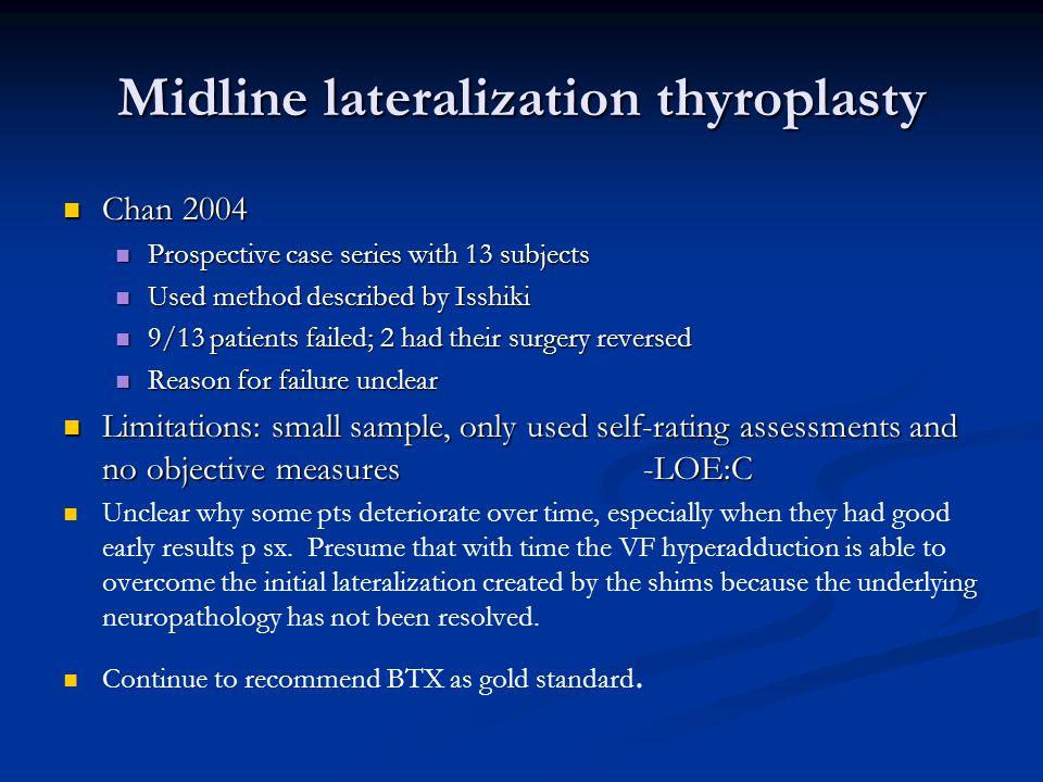 Midline lateralization thyroplasty