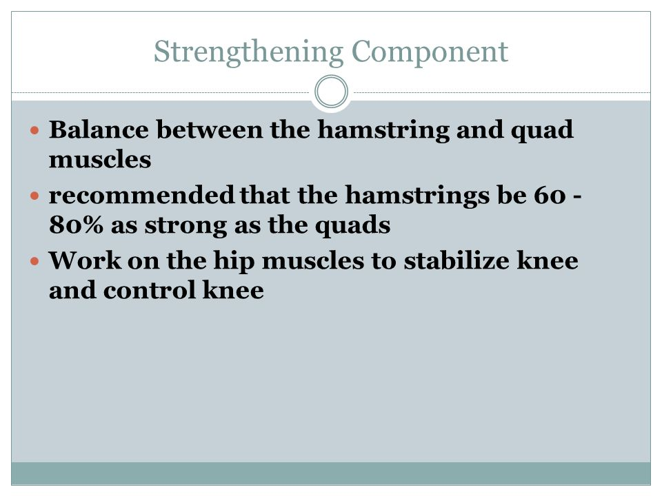Strengthening Component