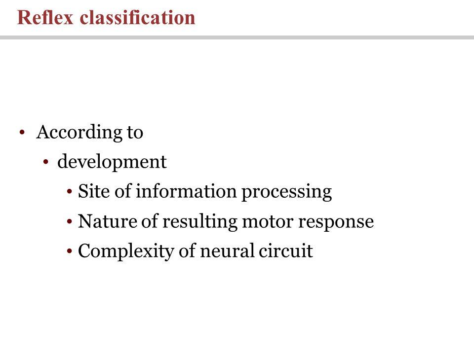 Reflex classification