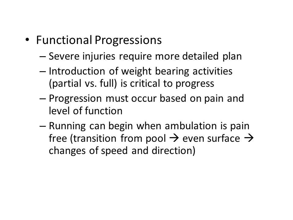 Functional Progressions