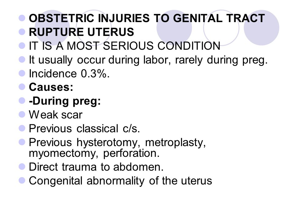 OBSTETRIC INJURIES TO GENITAL TRACT