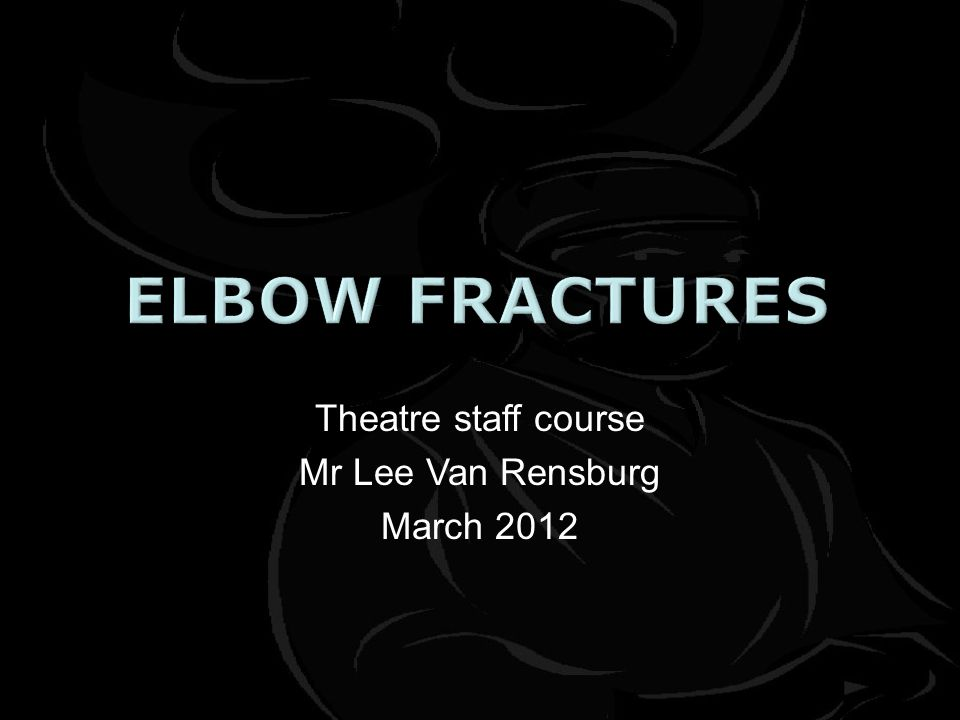Theatre staff course Mr Lee Van Rensburg March 2012
