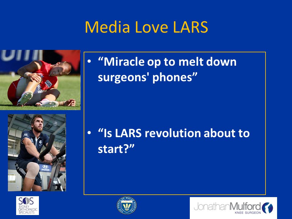 Media Love LARS Miracle op to melt down surgeons phones