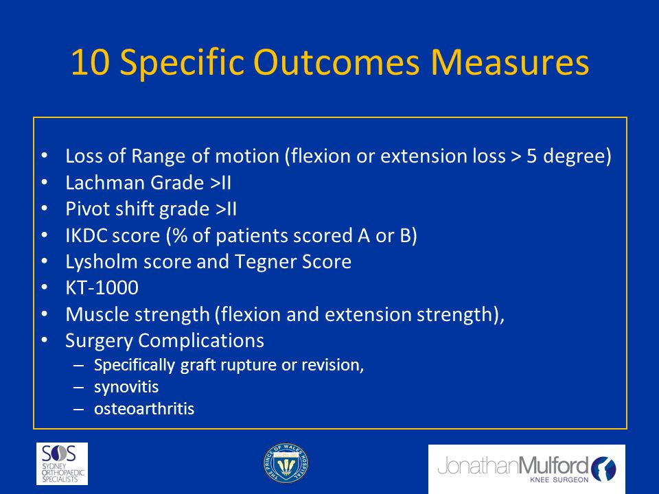 10 Specific Outcomes Measures
