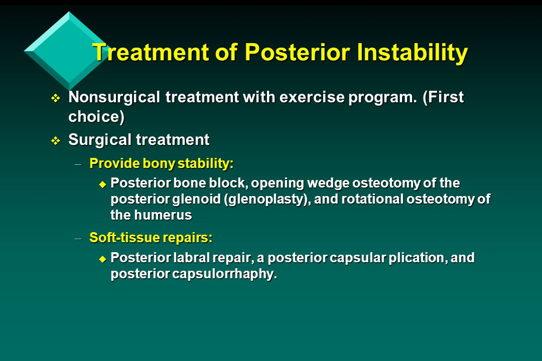 Treatment of Posterior Instability