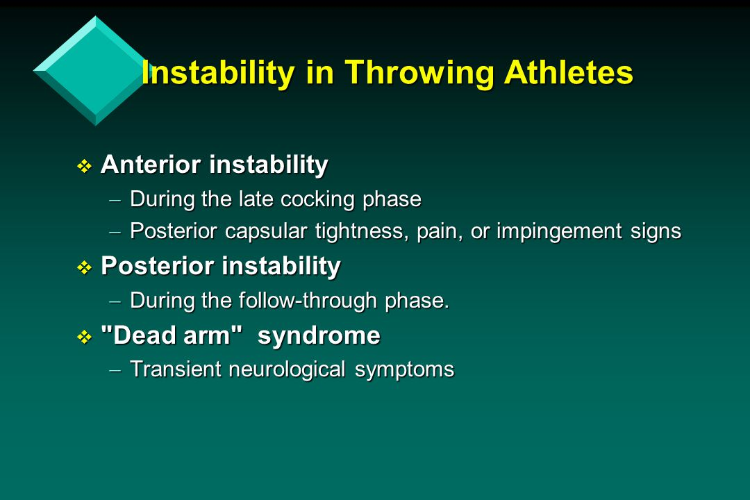 Instability in Throwing Athletes