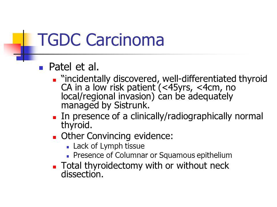 TGDC Carcinoma Patel et al.