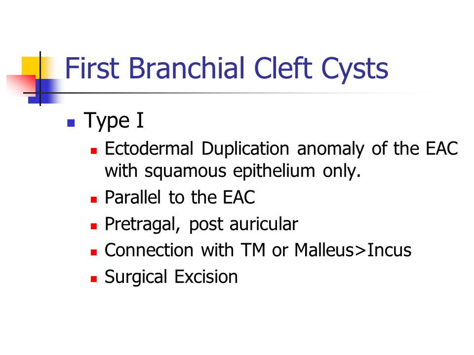 First Branchial Cleft Cysts