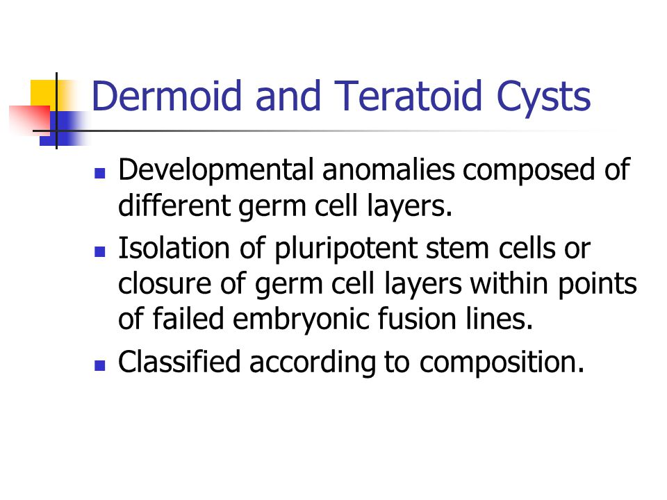 Dermoid and Teratoid Cysts