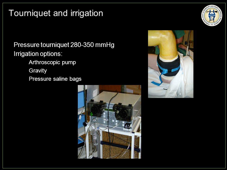 Tourniquet and irrigation