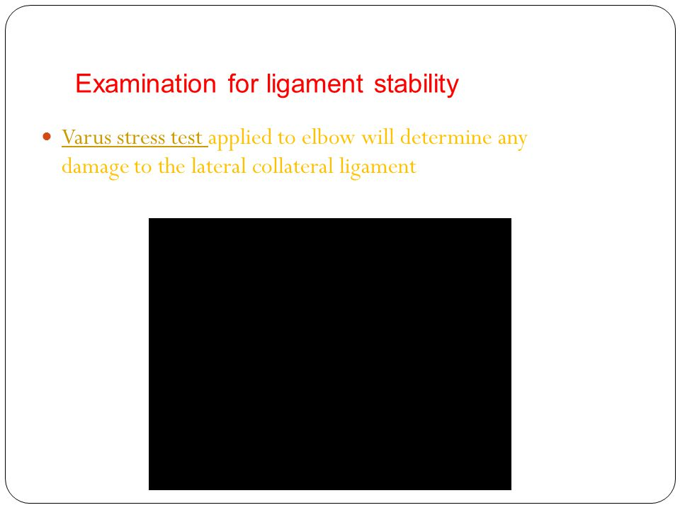 Examination for ligament stability