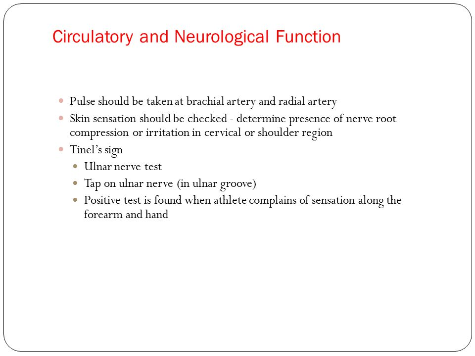 Circulatory and Neurological Function