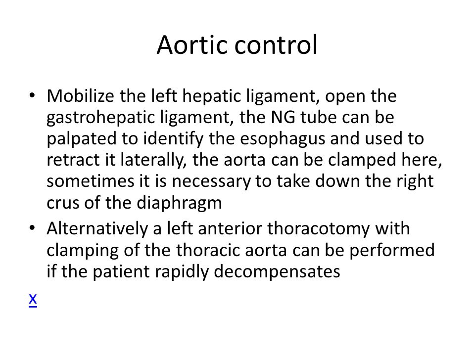 Aortic control