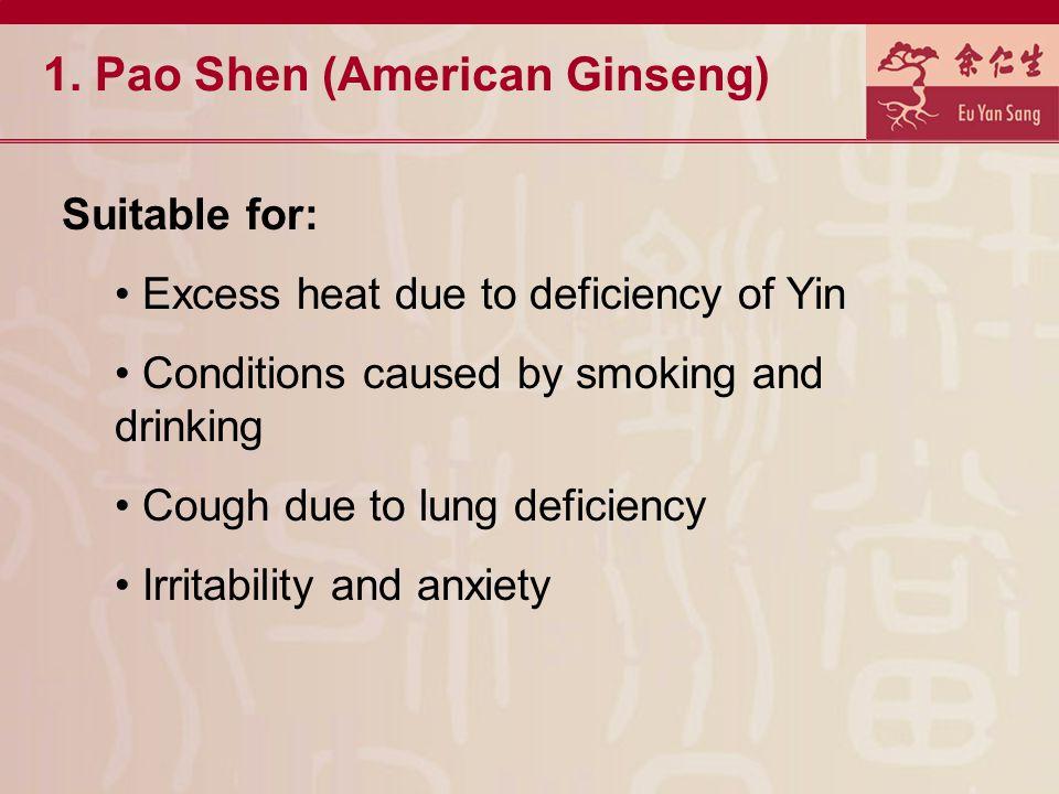 1. Pao Shen (American Ginseng)