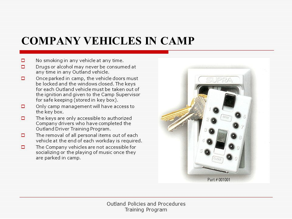 COMPANY VEHICLES IN CAMP