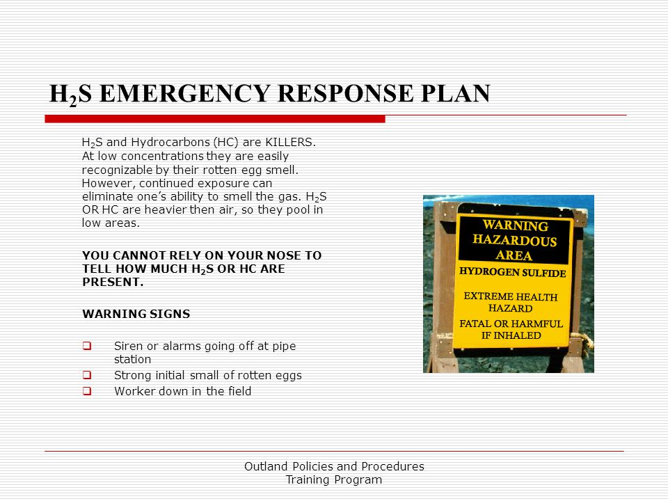 H2S EMERGENCY RESPONSE PLAN