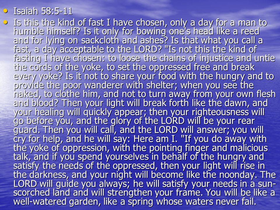 Isaiah 58:5-11
