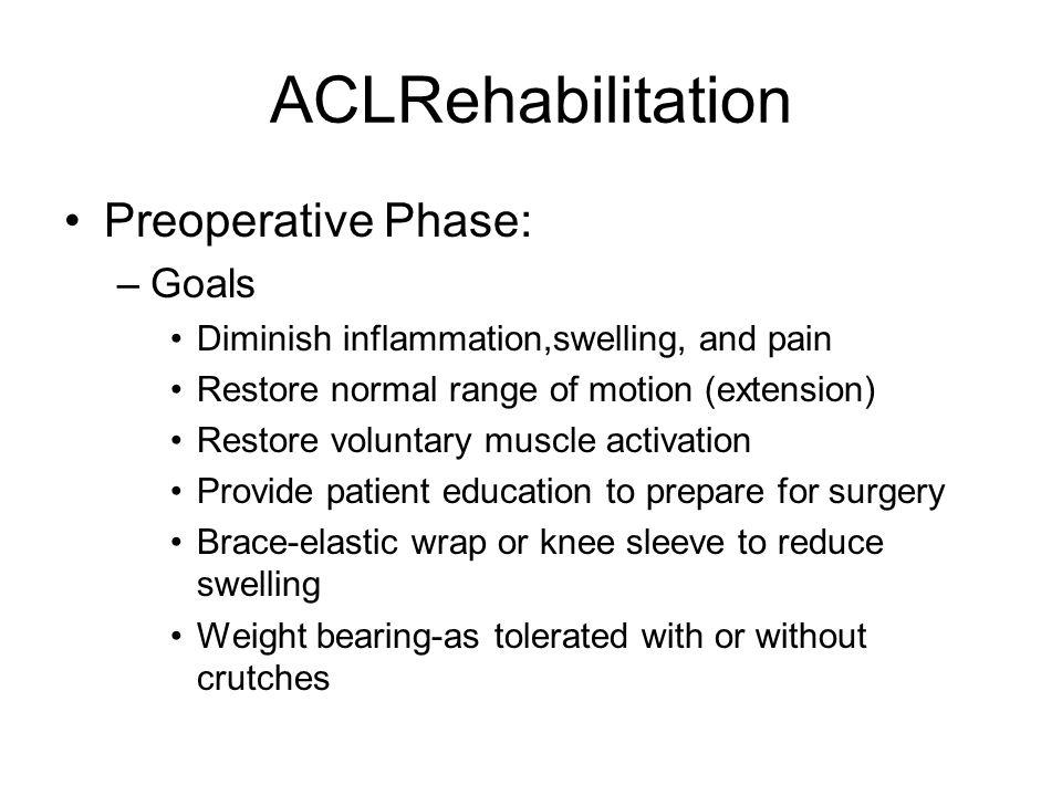 ACLRehabilitation Preoperative Phase: Goals
