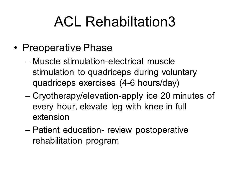 ACL Rehabiltation3 Preoperative Phase