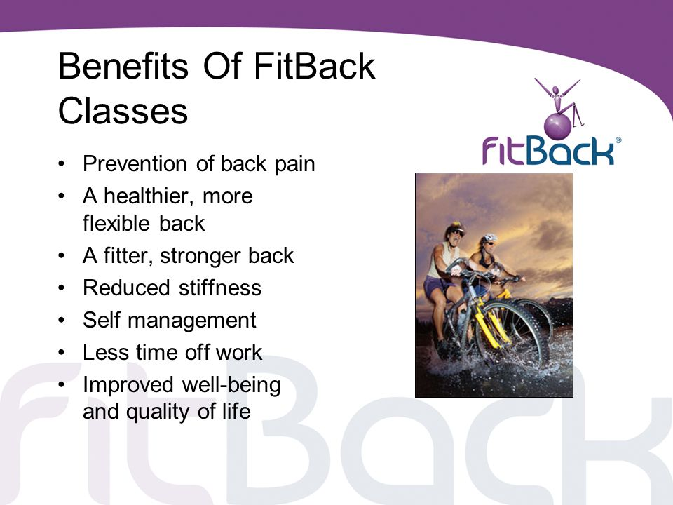 Benefits Of FitBack Classes