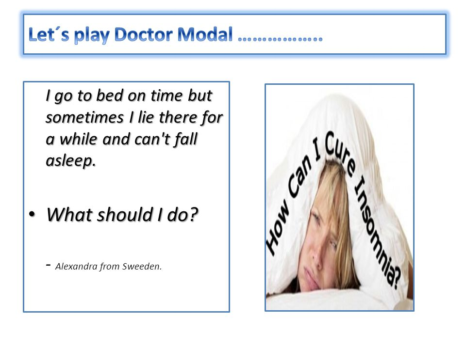 Let´s play Doctor Modal ……………..