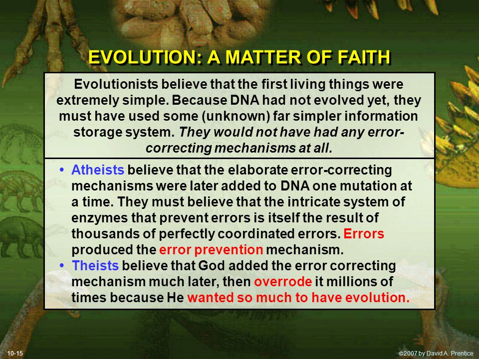 EVOLUTION: A MATTER OF FAITH