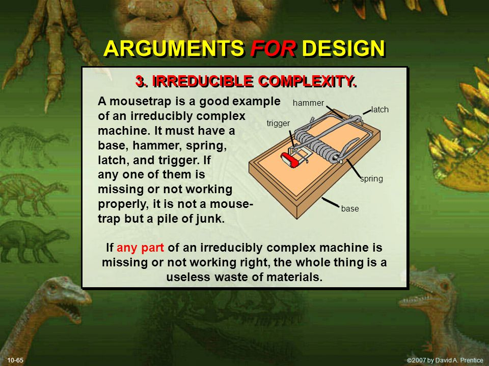 3. IRREDUCIBLE COMPLEXITY.