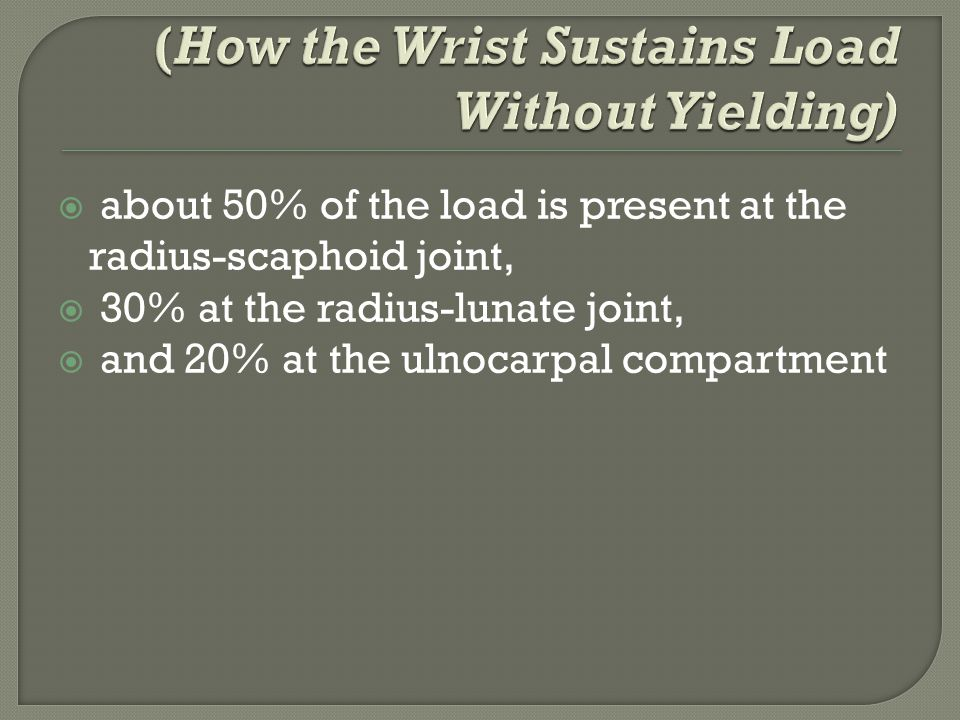 (How the Wrist Sustains Load Without Yielding)