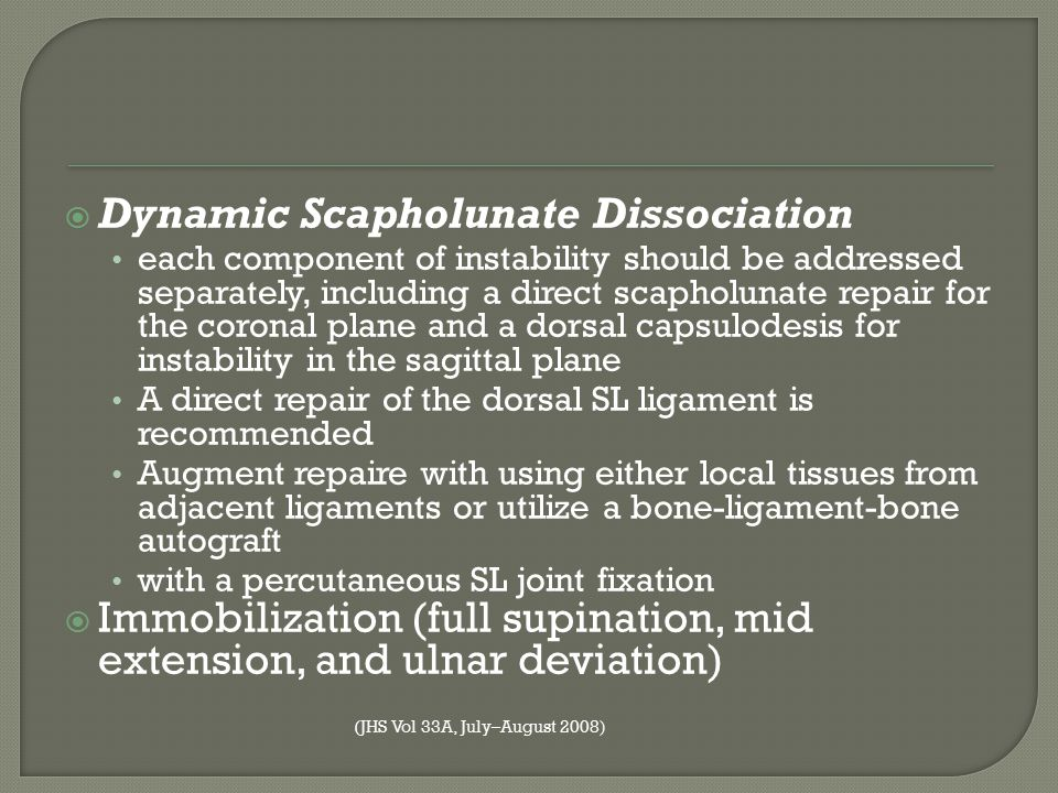 Dynamic Scapholunate Dissociation