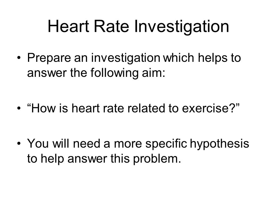 Heart Rate Investigation
