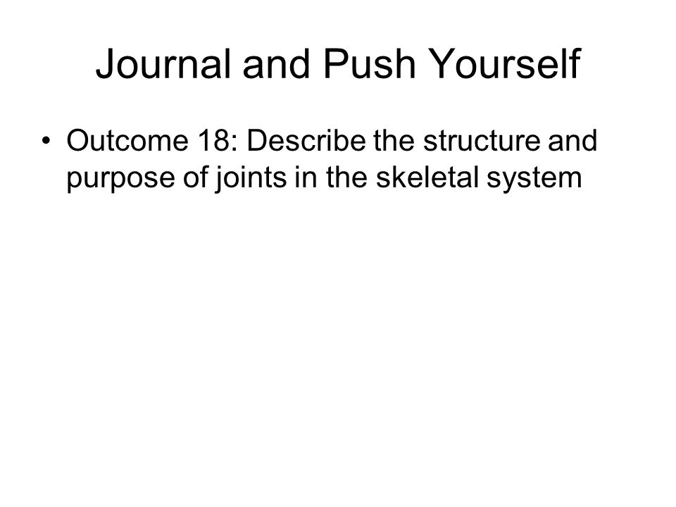 Journal and Push Yourself