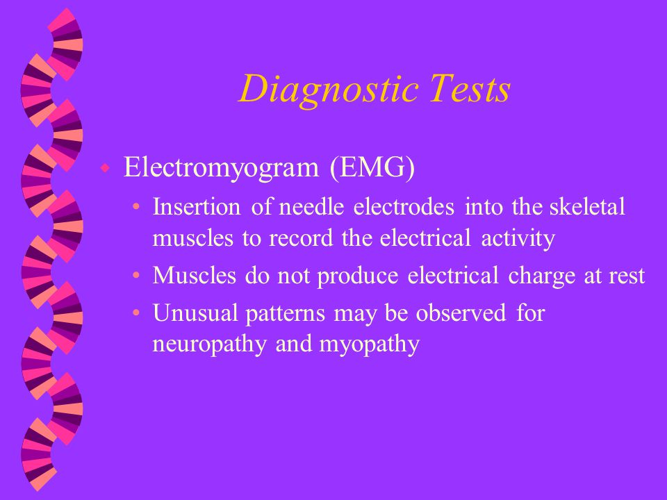 Diagnostic Tests Electromyogram (EMG)