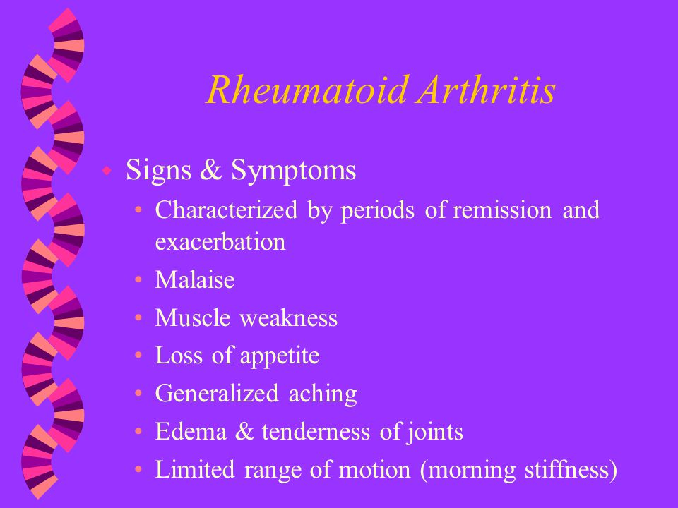 Rheumatoid Arthritis Signs & Symptoms