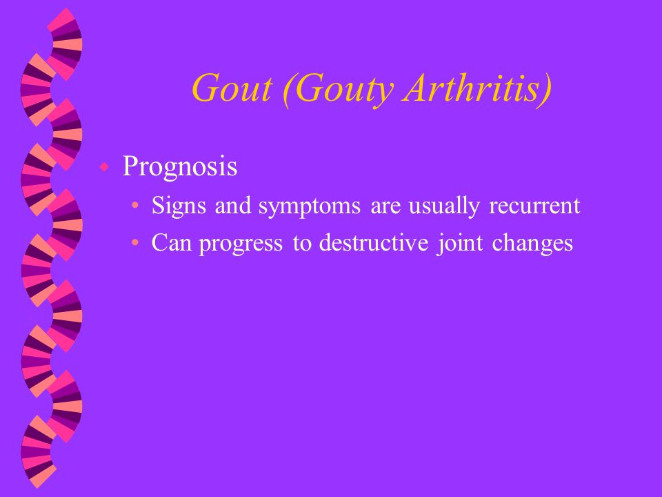 Gout (Gouty Arthritis)