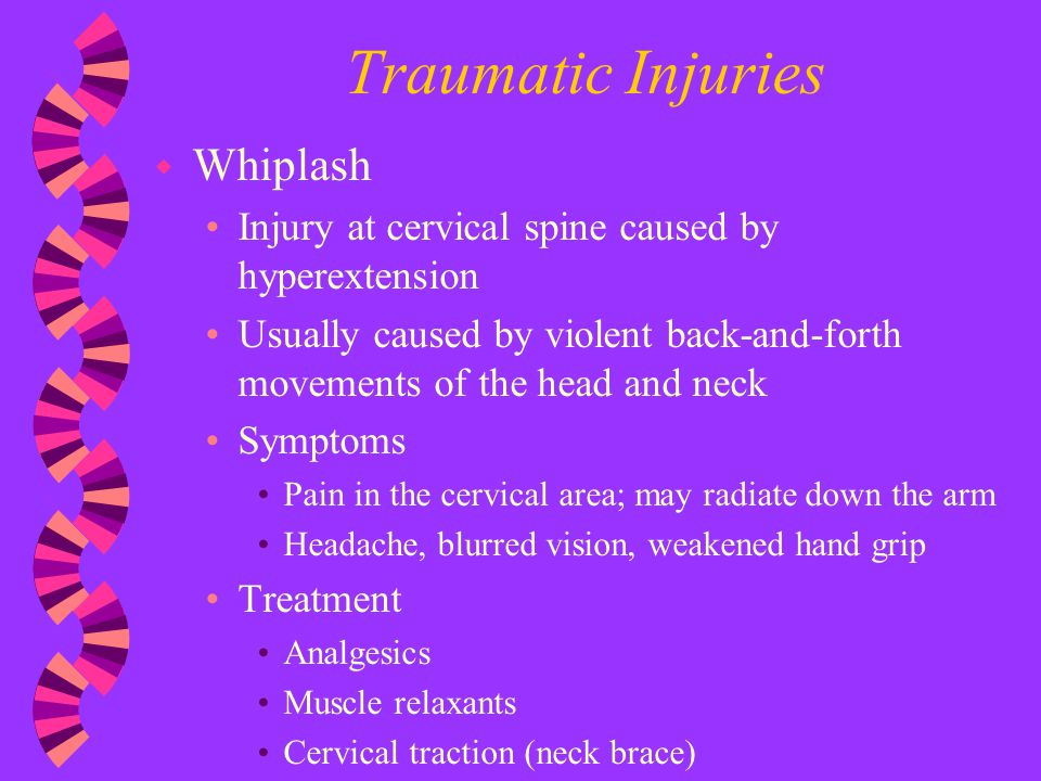 Traumatic Injuries Whiplash