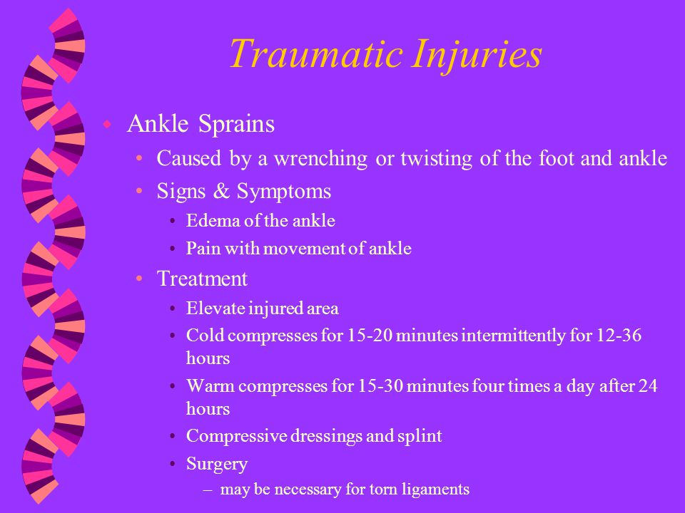 Traumatic Injuries Ankle Sprains