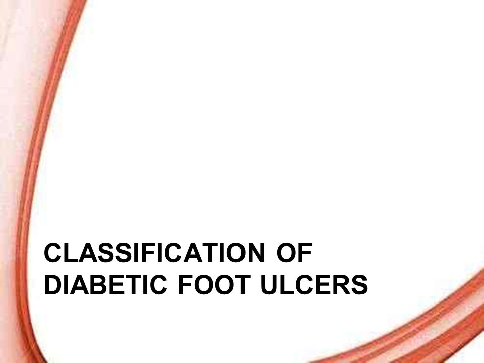 Classification of diabetic foot ulcer