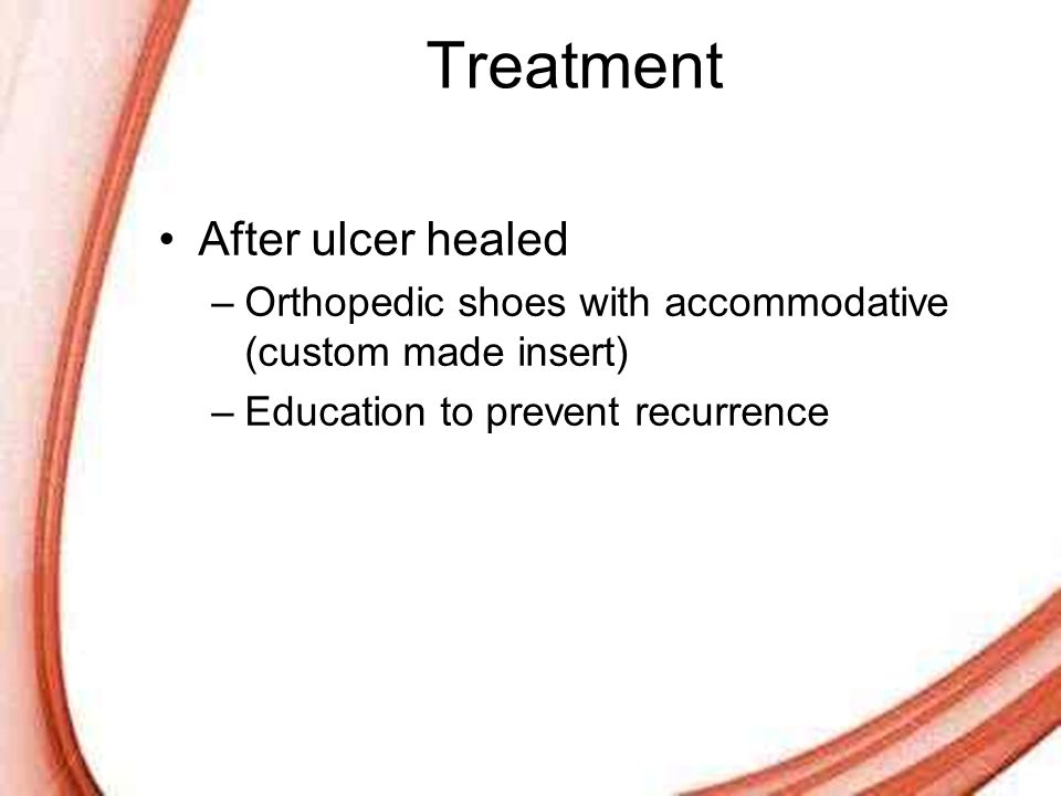 Treatment After ulcer healed