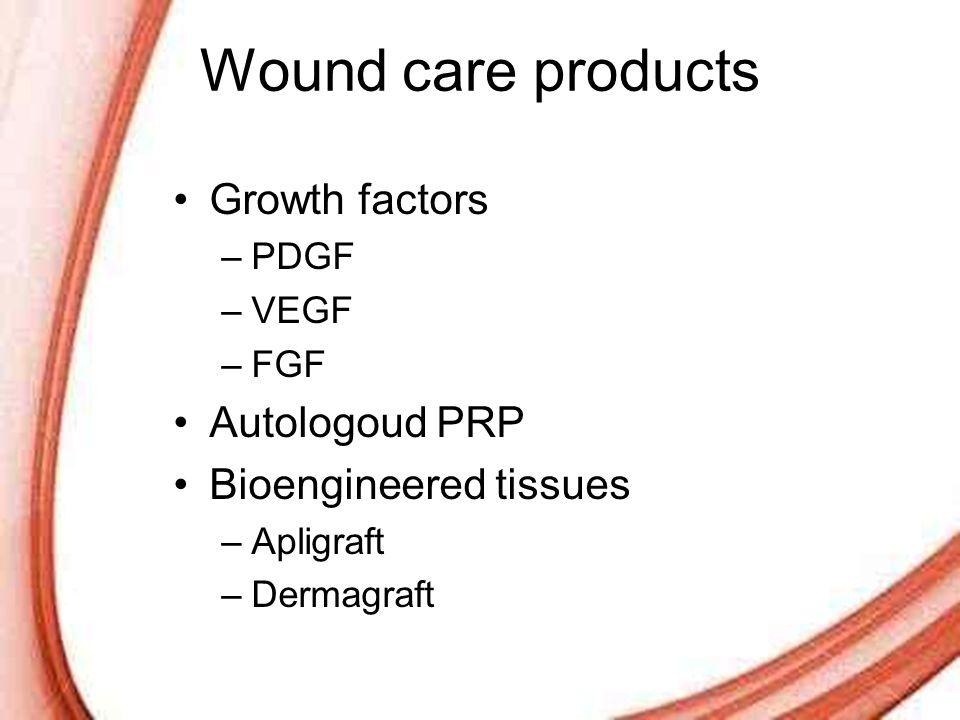 Wound care products Growth factors Autologoud PRP