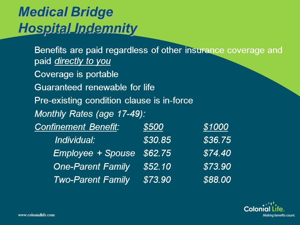 Medical Bridge Hospital Indemnity