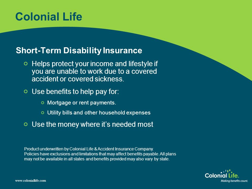 Colonial Life Short-Term Disability Insurance
