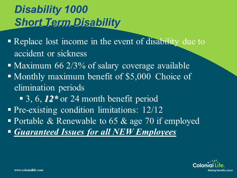 Disability 1000 Short Term Disability