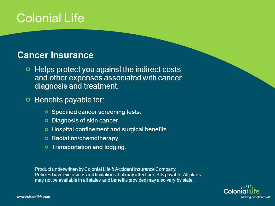 Colonial Life Cancer Insurance