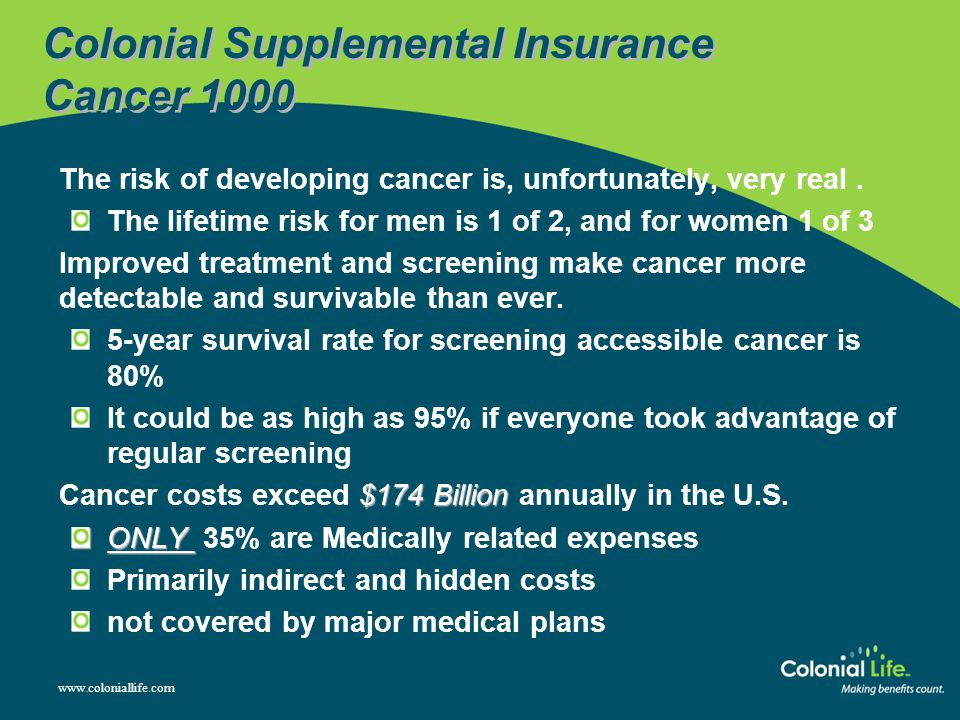 Colonial Supplemental Insurance Cancer 1000