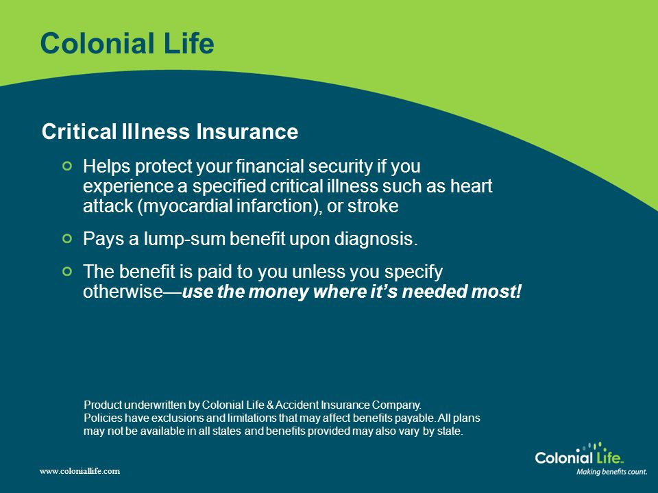 Colonial Life Critical Illness Insurance